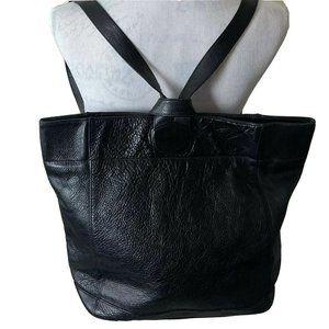 Ellington Backpack Black Leather Heavy Duty
